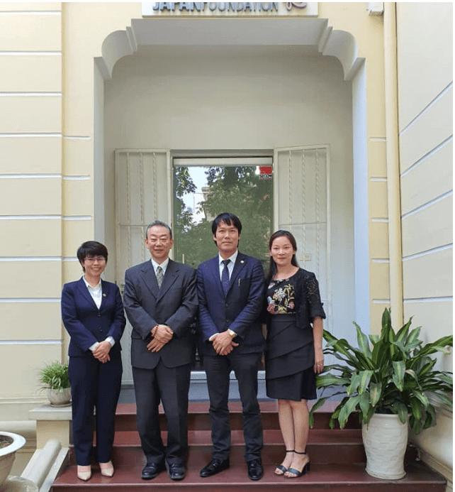 Hình ảnh: gojapan làm việc với Japan Foundation Việt Nam.
