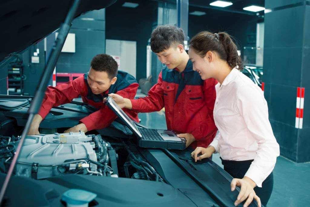 Đơn hàng bảo dưỡng ô tô Nhật Bản