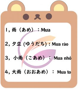Học tiếng Nhật chủ đề thời tiết để tán gẫu như người bản xứ