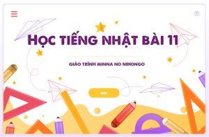 Học tiếng Nhật bài 11 Minna no Nihongo