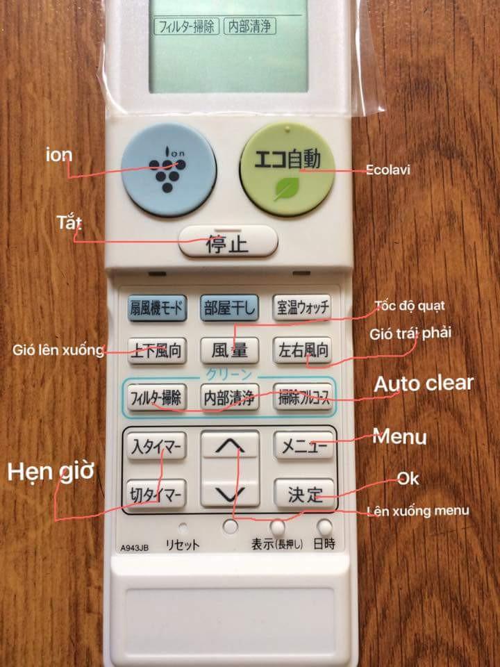 Hướng dẫn sử dụng điều khiển điều hoà tiếng Nhật và những điều bạn chưa biết