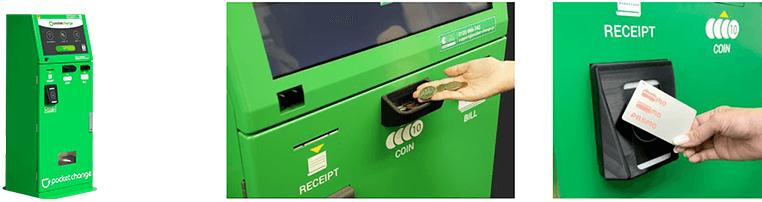 máy đổi tiền tự động ở sân bay